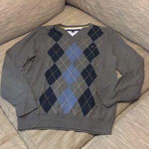 Tommy Hilfiger argyle sweater, L